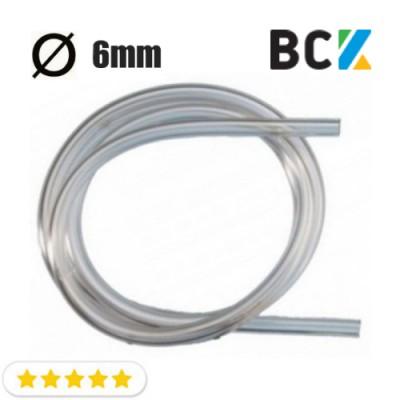 Трубка дренажная 6ммх1.5мм ПВХ капиллярная прозрачная пищевая PVC для установки и монтажа кондиционеров вывод конденсата на отрез от 1м